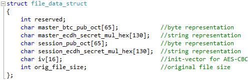 TeslaCrypt File Header.